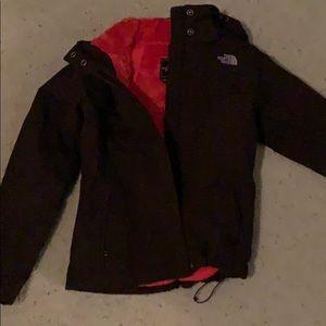 Northface women's fur-lined ski jacket